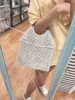 Kaison Scandinavia knitted handbag cream white