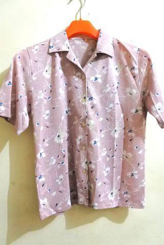 Dusty Pink Flowery Shirt