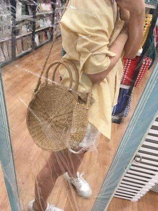 Restock round Scandinavia straw bag