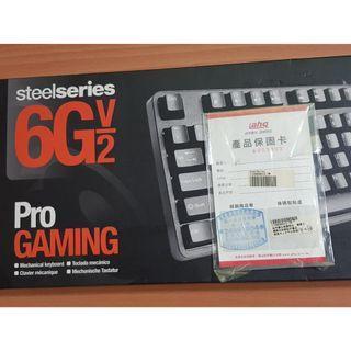 【二手】 SteelSeries 賽睿 6Gv2 MX Cherry 黑軸 PBT鍵帽 電競 機械式鍵盤 初代鍵皇