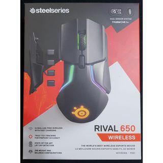 【9成新】 SteelSeries 賽睿 Rival 650 無線 電競滑鼠 有發票 保內 大手救星