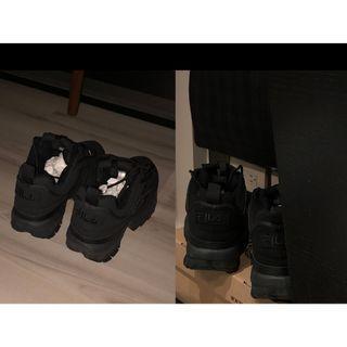 FILA Disruptor II FB Triple Black Suede 黑色男鞋 FW04495-001