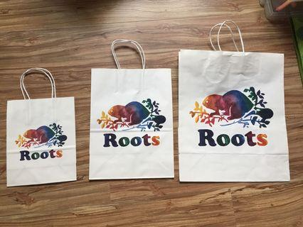 Roots紙袋(3個尺寸一起賣)
