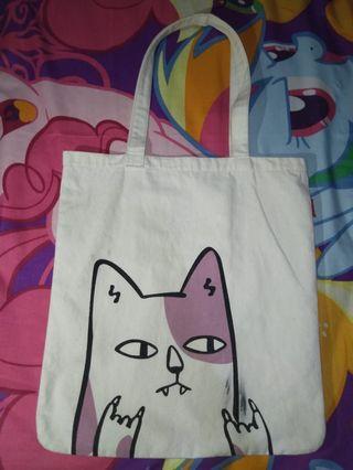tote bag cat