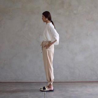 Banye Studio Linen Tied Pants