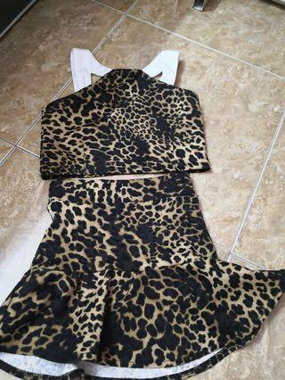 Cute two piece sexy dress for little princess