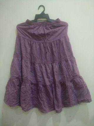 Skater Skirt long purple day out skirt