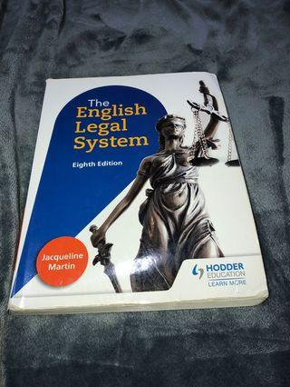 The English Legal System 8th Edition Authentic