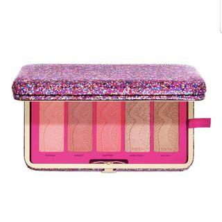 Authentic Limited Edition Tarte Life of The Party Blush Palette & Clutch
