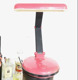 精緻檯燈燈座 電池或插座皆可使用 (兩用) 可用LED燈管或一般省電燈管