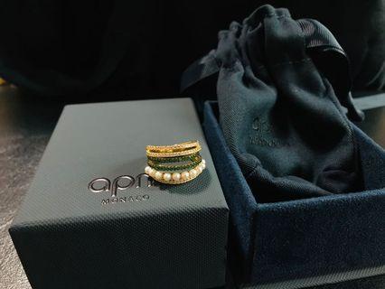 apm MONACO 最新珍珠小鑽多環戒指