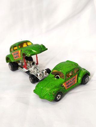 Vintage 1970s VW beetle diecast