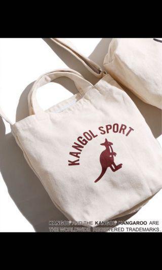 Kangol 手提斜背包 帆布包