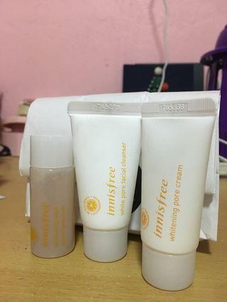 Innisfree Whitening Pore Kit(one set)
