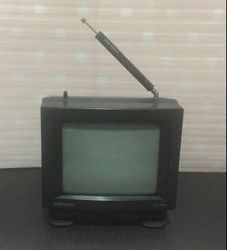 POPTRON 170m/m黑白小電視 電源輸入:DC 12v 1000mA AC 110v 60Hz 二手