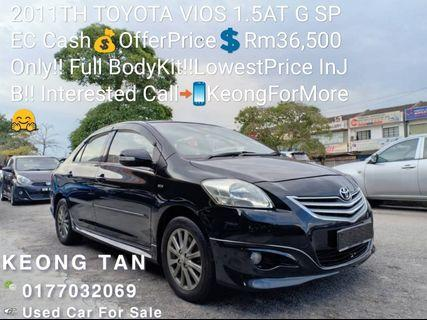 2011TH TOYOTA VIOS 1.5AT G LIMITED SPEC Cash💰OfferPrice💲Rm36,500 Only‼Full BodyKit‼LowestPrice InJB‼Interested Call📲0177032069 KeongForMore🤗