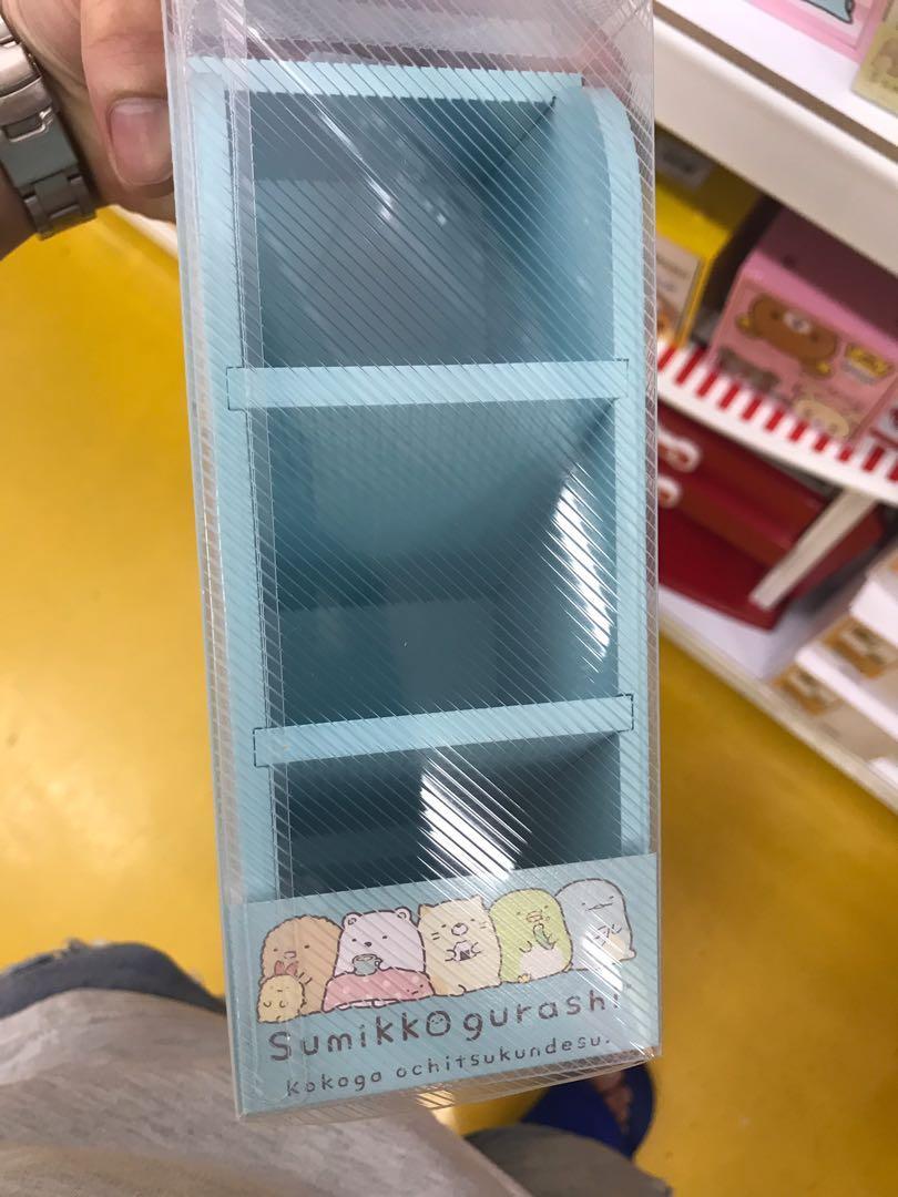 角落小夥伴-木製三層直立置物盒