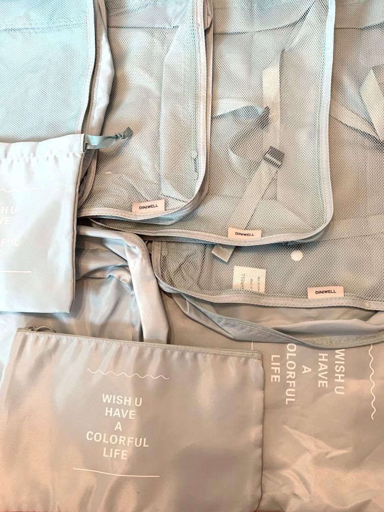 旅行 行李收納袋一套八件裝