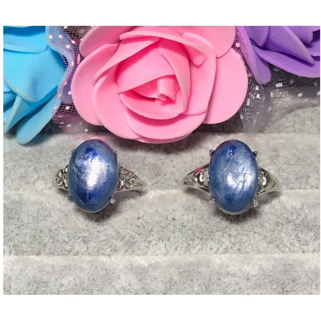 天然藍晶石戒指 活圍戒托 (任選)