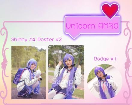 🆕 Ringo Cosplay Azur Lane Unicorn shinny A4 Poster