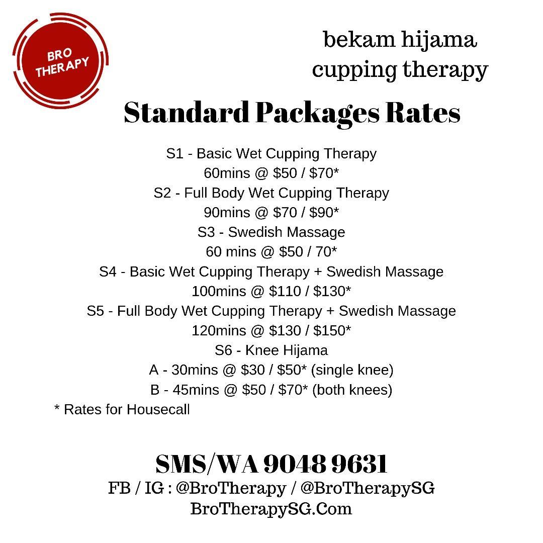 Bekam Hijama Wet Cupping & Massage Services (Sembawang/Housecall)
