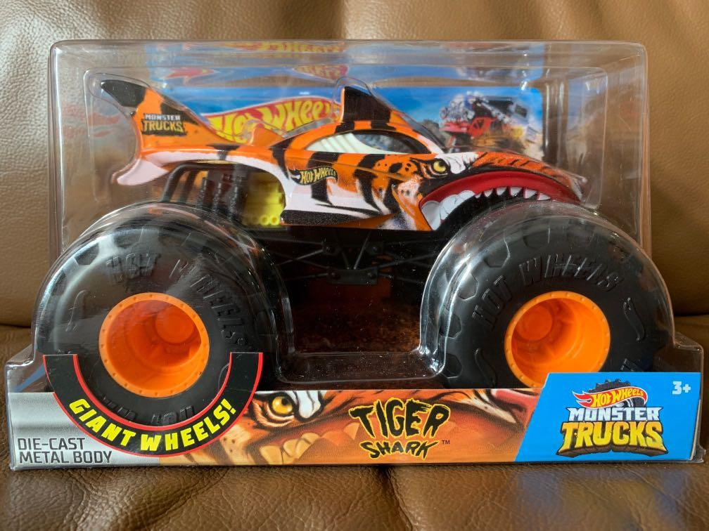 Brand New And Sealed Hot Wheels Monster Trucks 1 24 Scale Tiger Shark Toys Games Others On Carousell