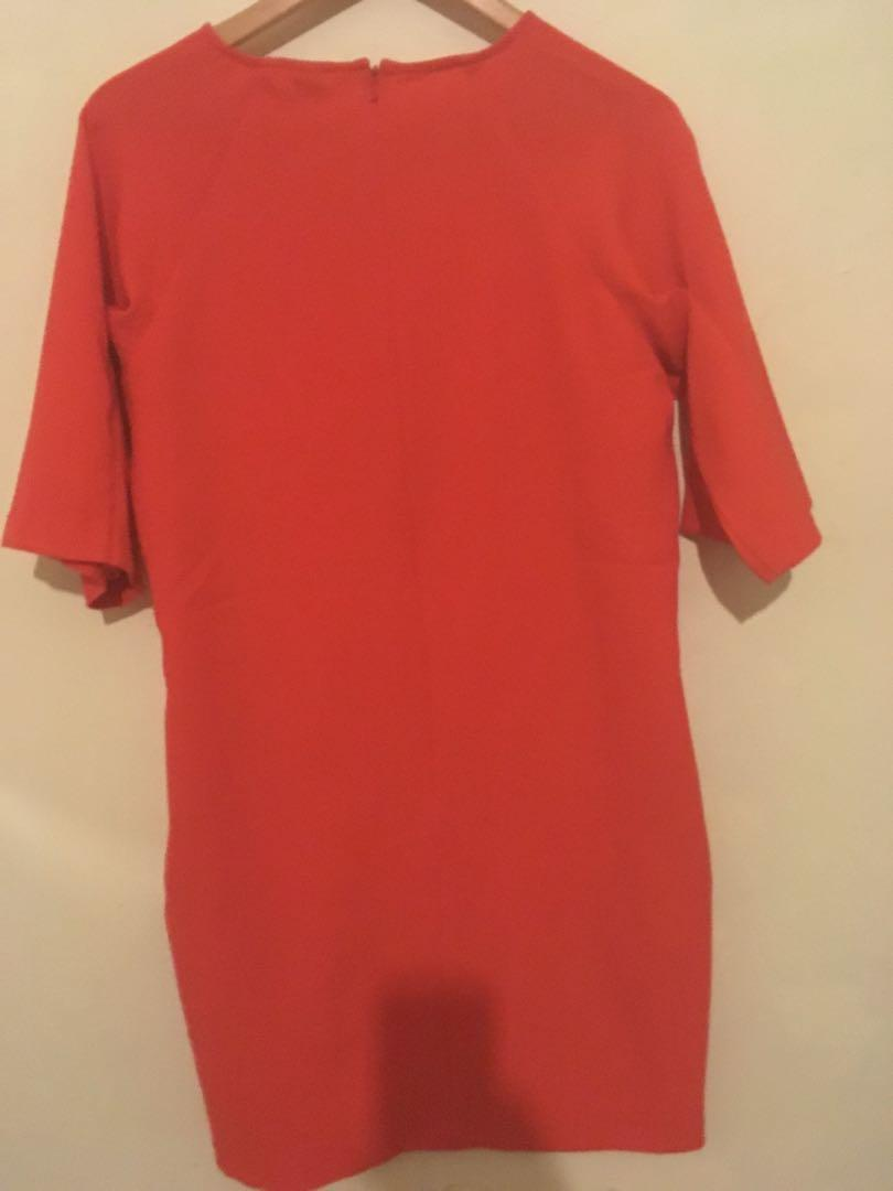 Bright Orange Shift dress