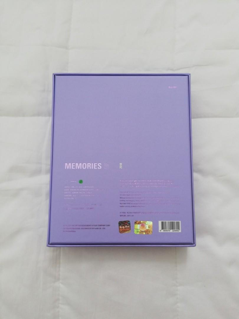 BTS MEMORIES 2018 BLURAY EDITION WITH J-HOPE PHOTOCARD