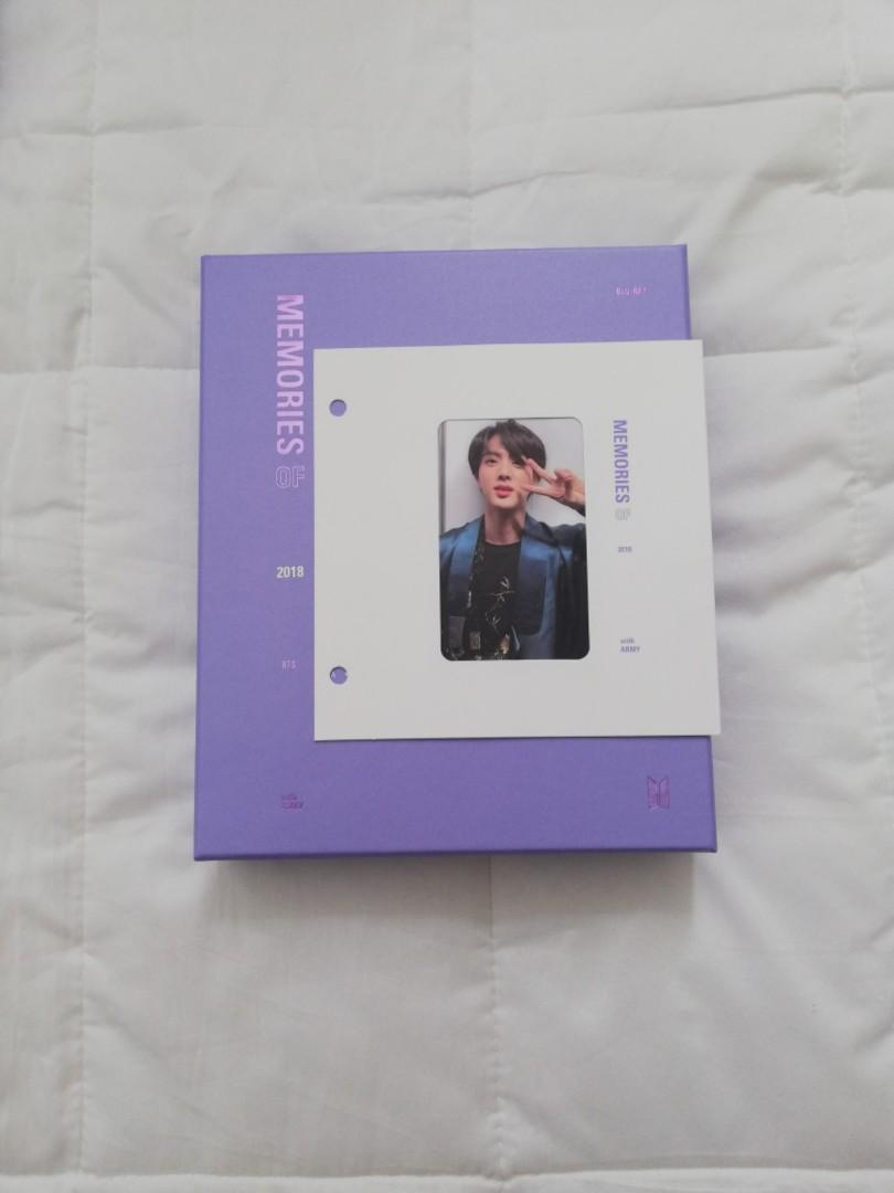 BTS MEMORIES 2018 BLURAY EDITION WITH JIN PHOTOCARD
