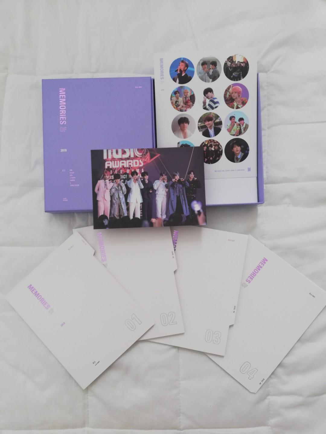 BTS MEMORIES 2018 BLURAY EDITION WITHOUT PHOTOCARDS