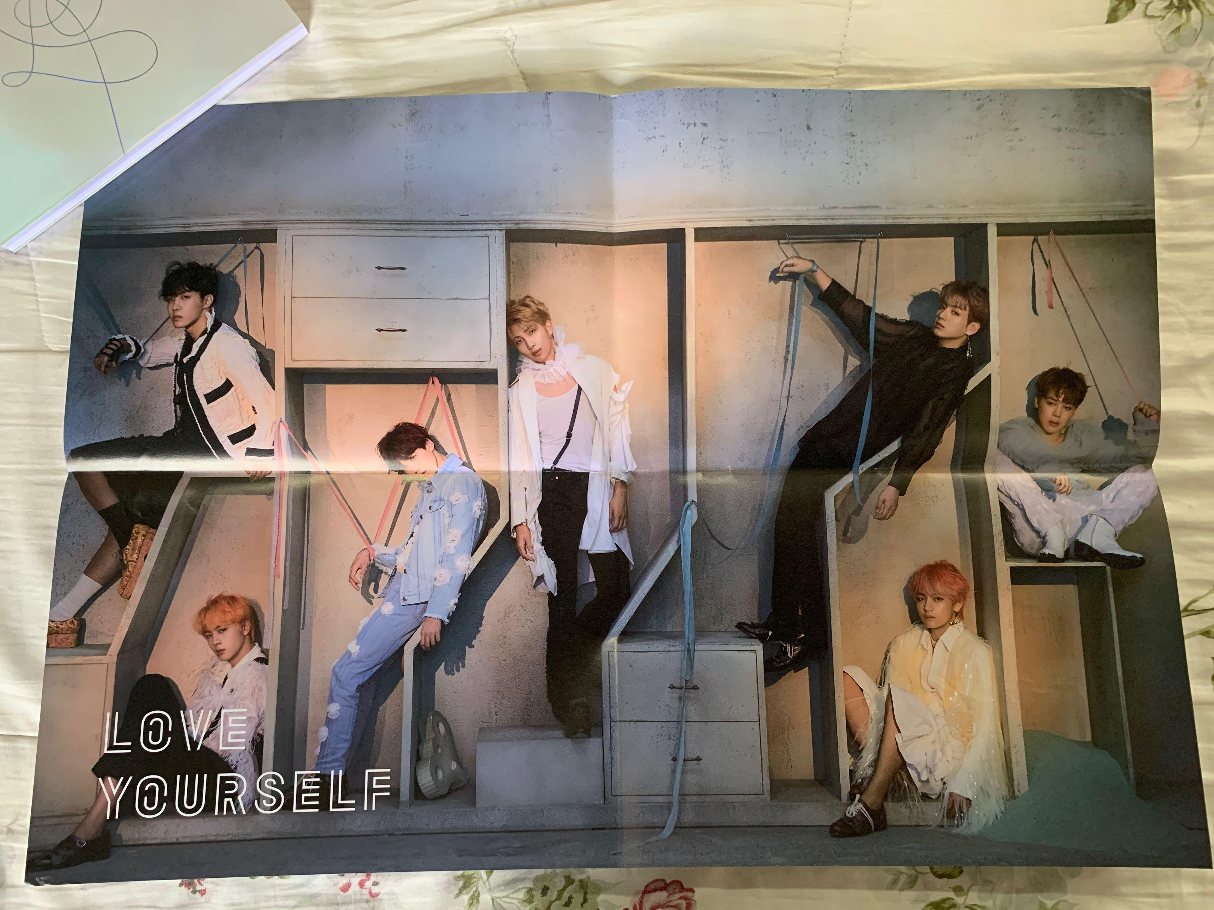 BTS Original Poster [Love Yourself:Answer (E)] Folded - Never use