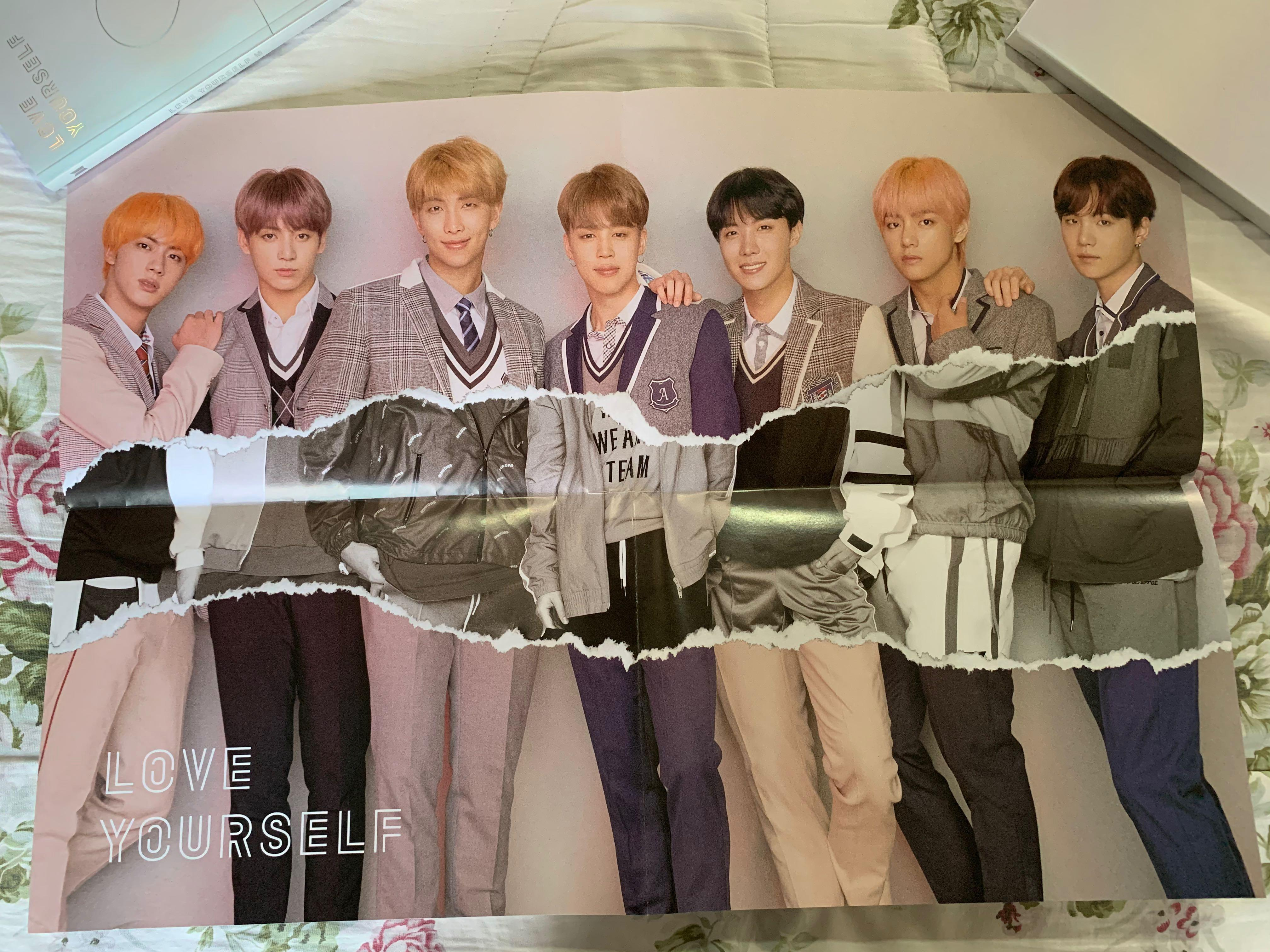 #BTS Original Poster [Love Yourself:Answer (F)] Folded - Never use