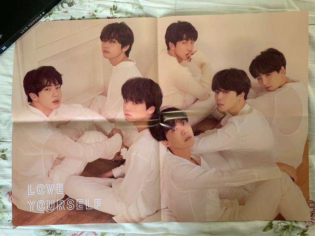 #BTS Original Poster [Love Yourself:Tear (U)] Folded - Never use