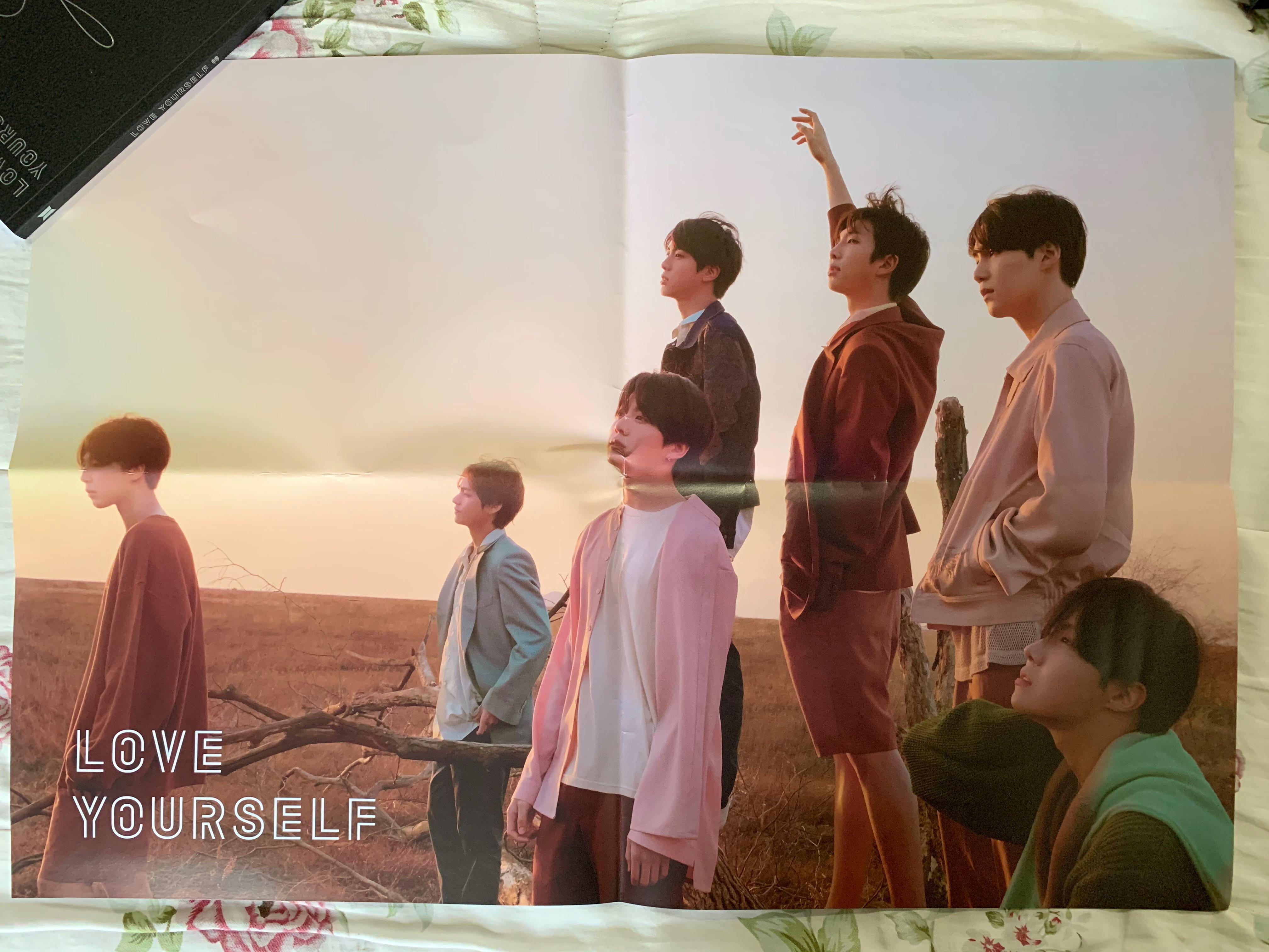#BTS Original Poster [Love Yourself:Tear (Y)] Folded - Never use
