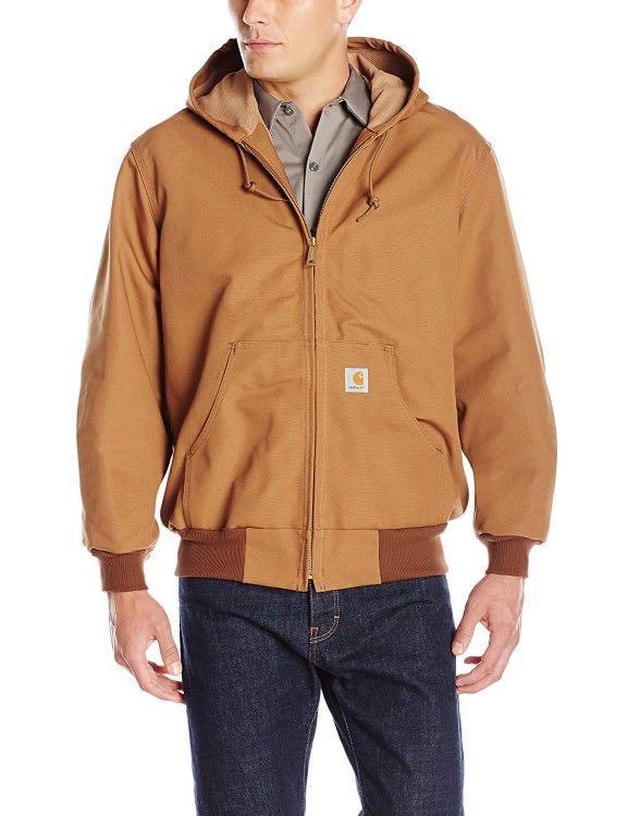 美線美製Carhartt ACTIVE DUCK JACKET J131 褐棕 防水防風連帽外套
