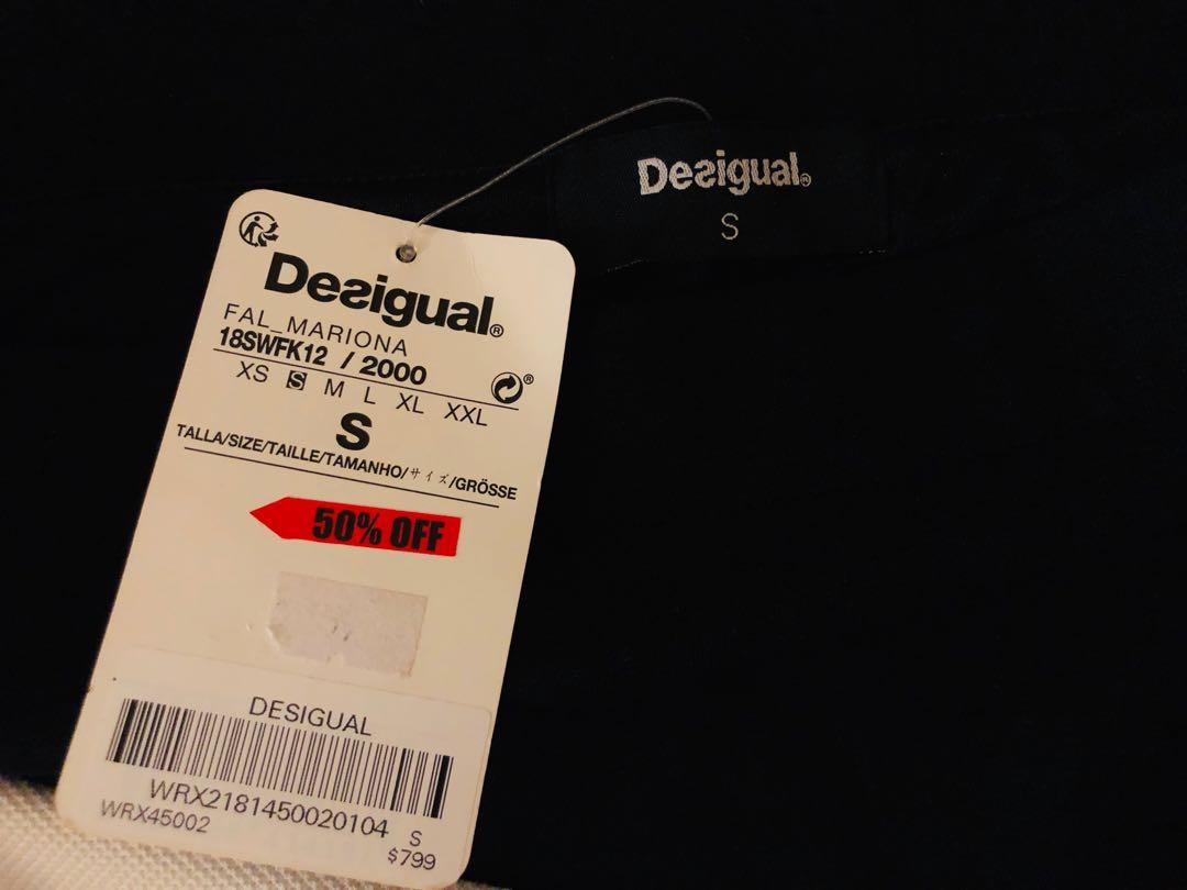 Desigual slim fit pencil skirt 西班牙名牌Desigual修身包臀半截裙