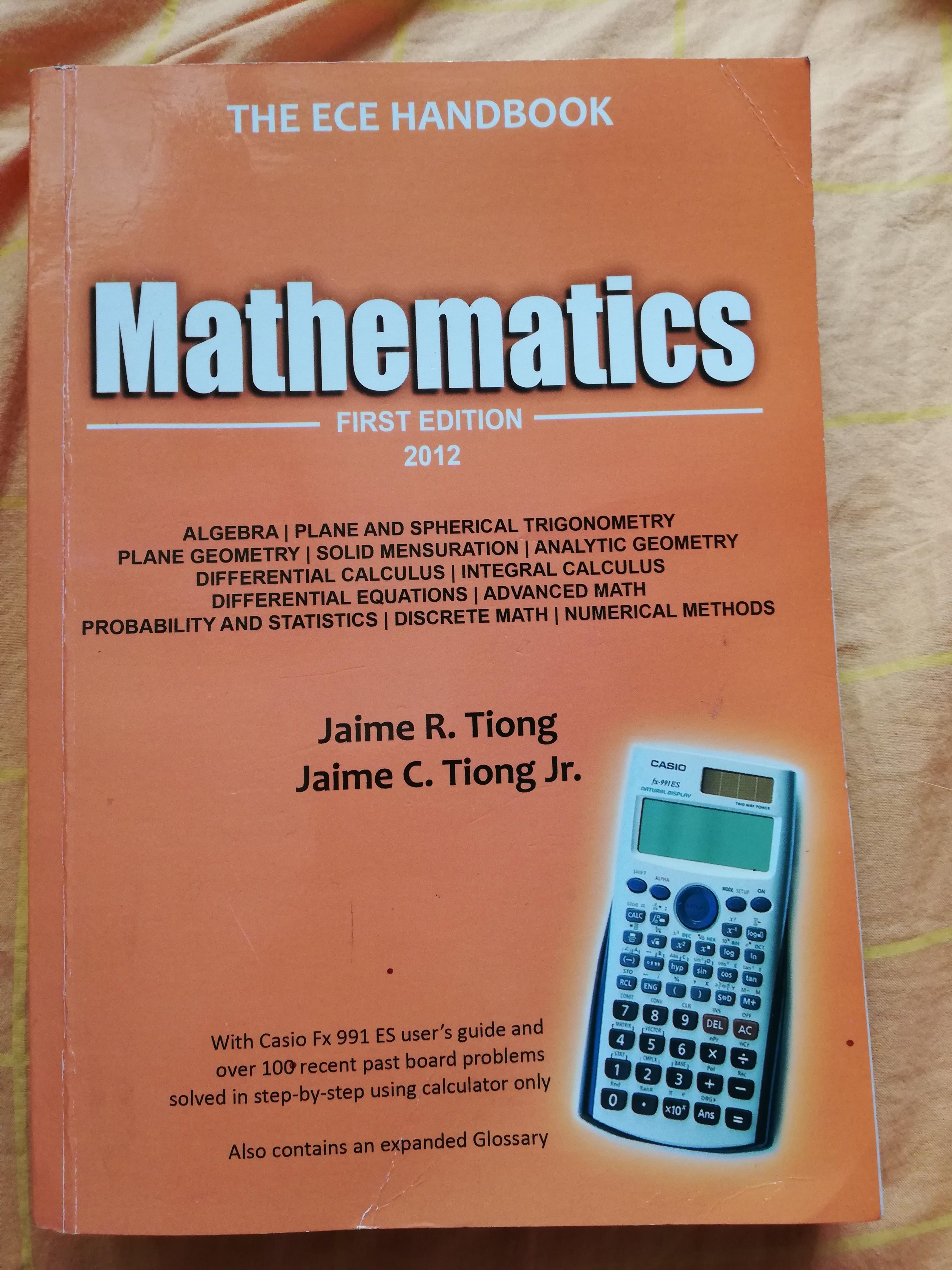 ECE HandbookGeneral Engineering and Applied Sciences Mathematics by Jaime R. Tiong & Jaime C. Tiong Jr. Electronics Engineering  ECE BOARD EXAM REVIEWER