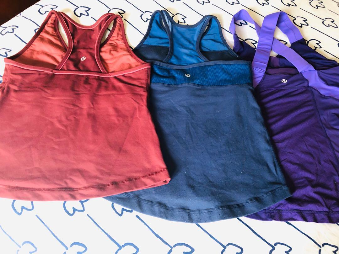 EUC Lululemon Workout Tank with built in bra size 8