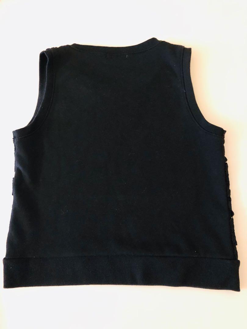 From IT, navy blue subtle floral vest IT 購入深藍暗花背心