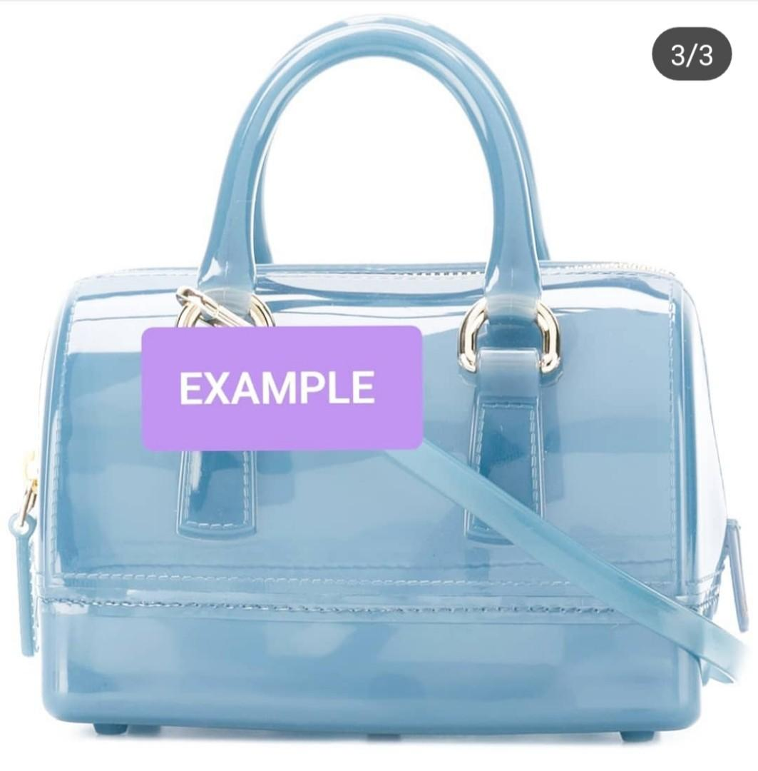 FURLA JELLY LONG CROSSBODY BAG STRAP - BLUE GLITTER COLOR - NEVER BEEN USED - (BOUGHT IN FURLA BICESTER VILLAGE UK OUTLET STORE AT AROUND RM 500)