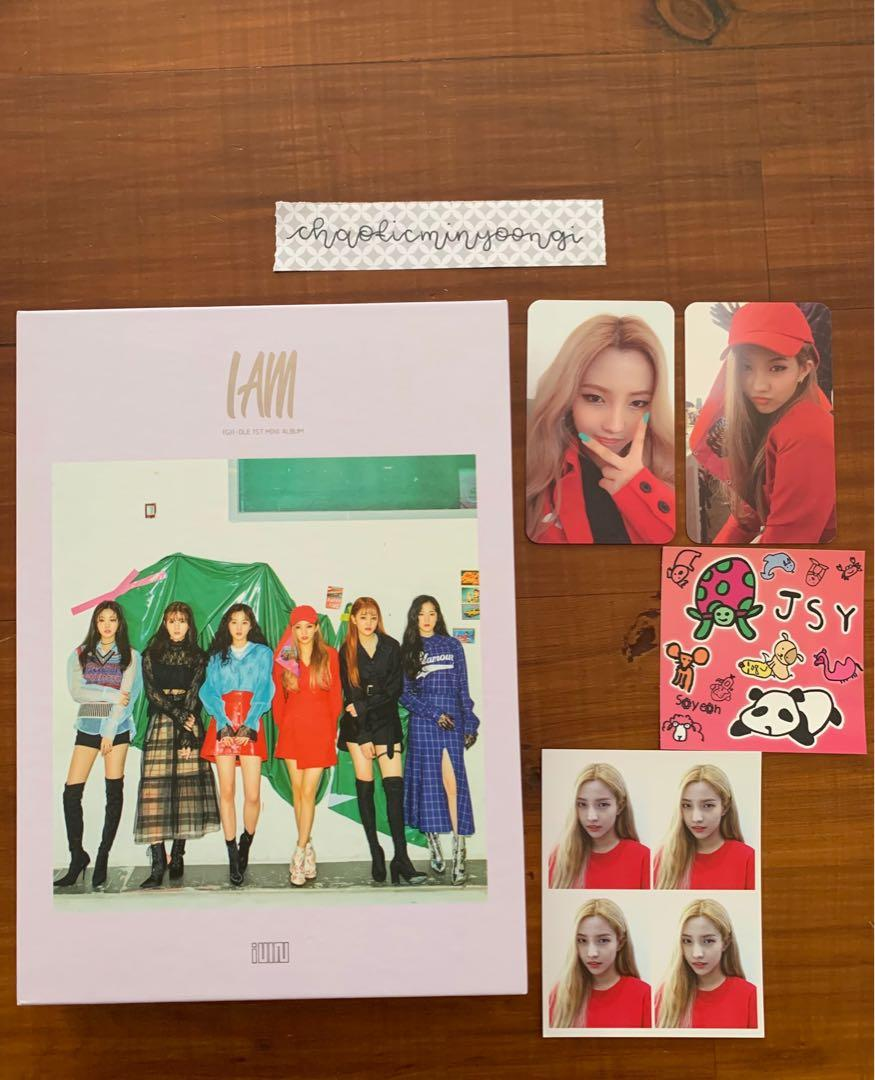 (G)-Idle I Am Official Album with Soyeon Photocard set
