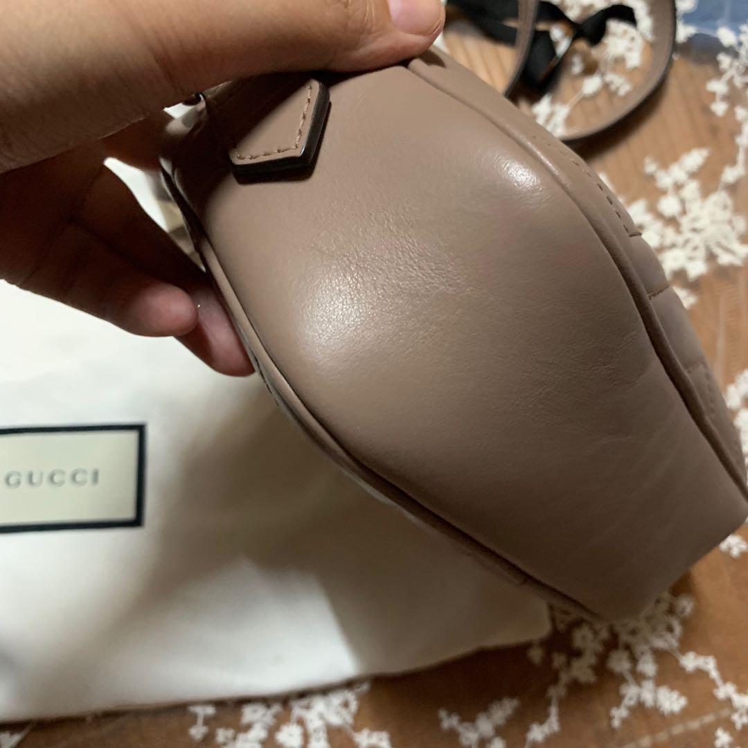 Gucci GG Marmont Mini Crossbody Bag Nude Pink