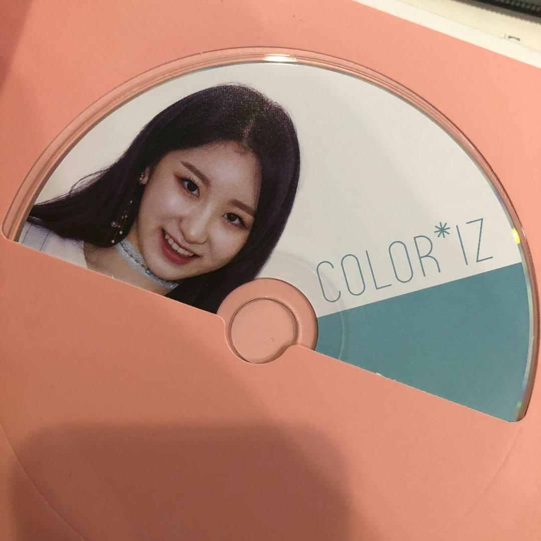 IZ*ONE COLOR*IZ ALBUM ROSE VER WITH CHAEYEON COLOR VER CD