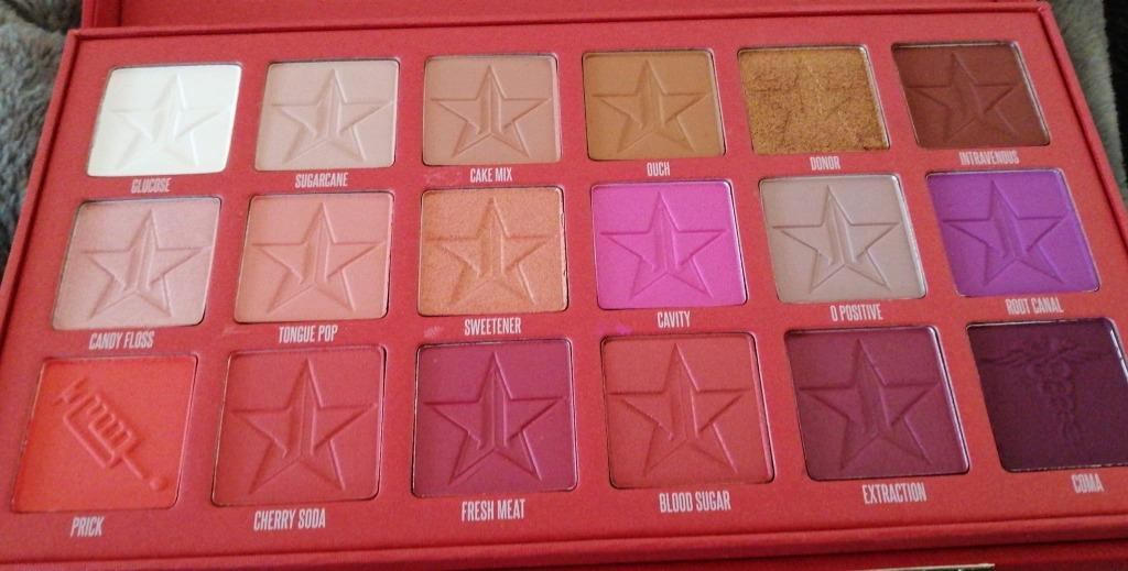 JEFFREE STAR COSMETICS Blood Sugar Eyeshadow Palette (New & Authentic) PRICE IS FIRM, NO SWAPS, FREE SHIPPING
