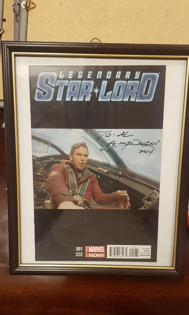 Legendary Star Lord #1 Marvel Comic Movie Photo Variant Cover Chris Pratt Signed by Steve Dan