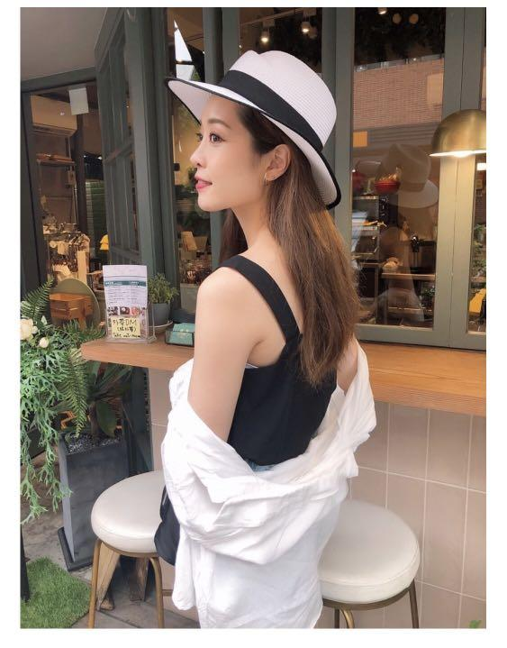 Lina Lina Dress 法式黑白紳士編織圓帽
