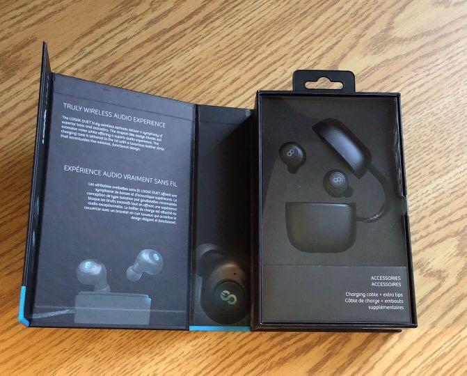 Logiix Duet Wireless Bluetooth Earbuds - Black (Brand New)