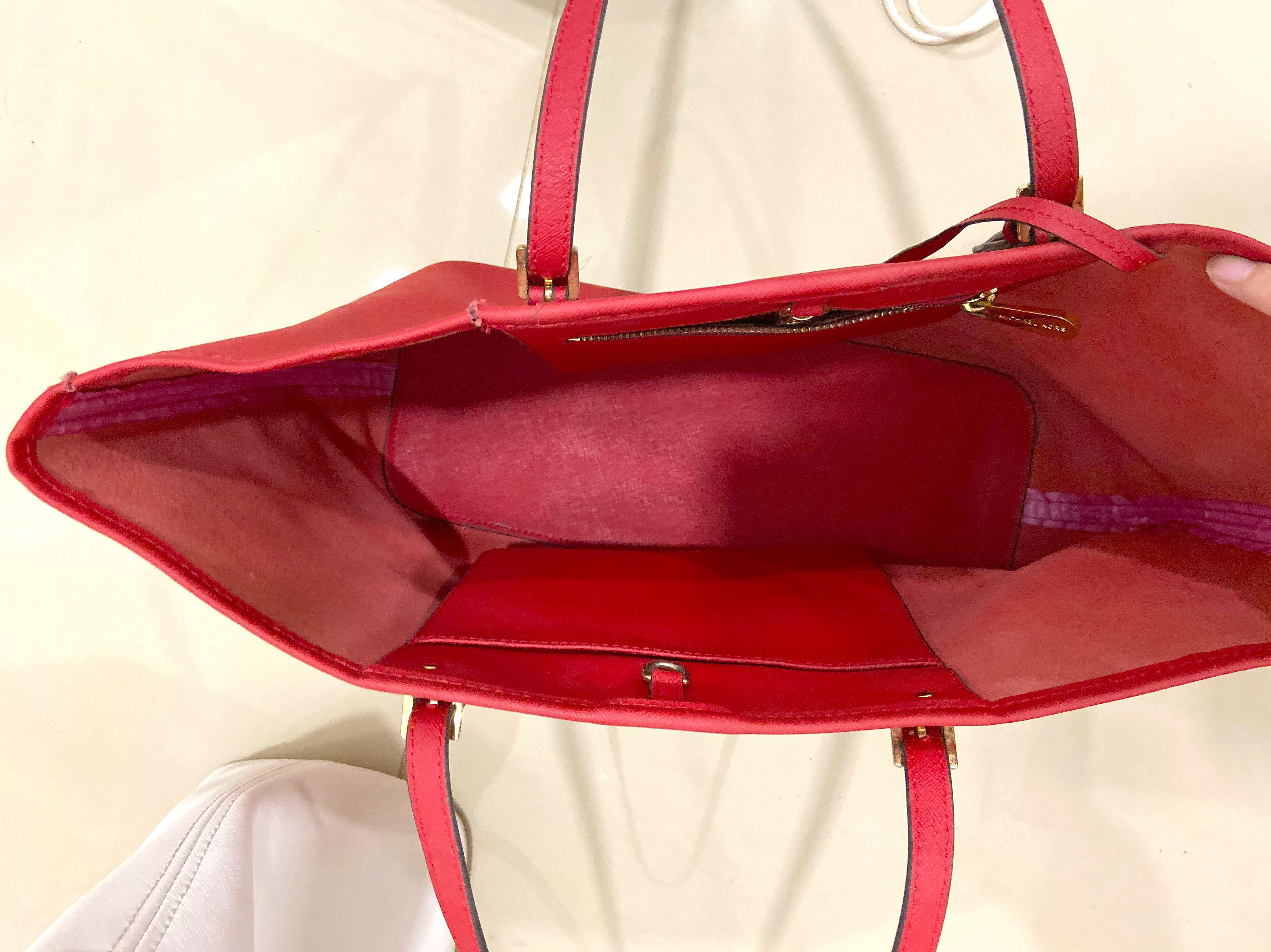Authentic Michael kors tote bag (red)