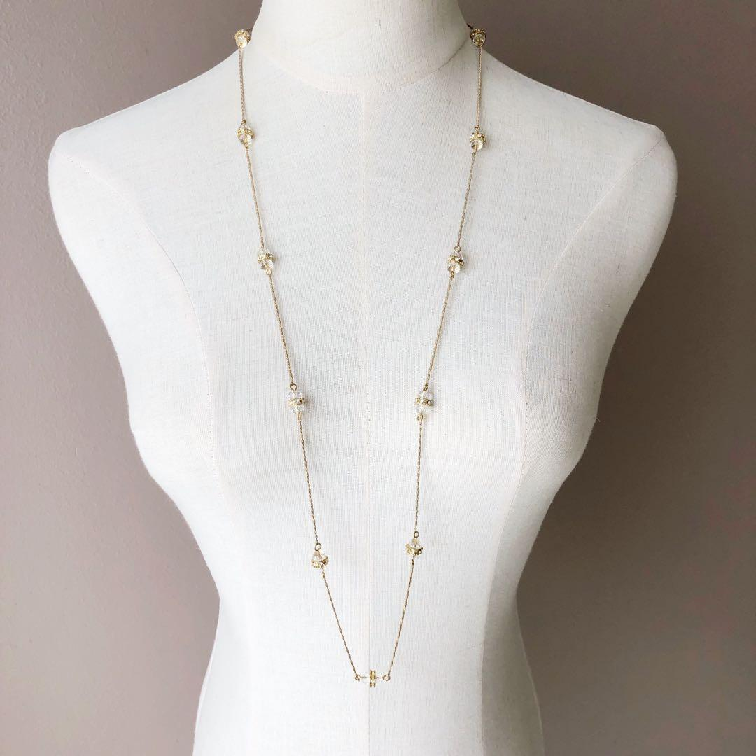 Monet Gold Plated Long Beads Necklace
