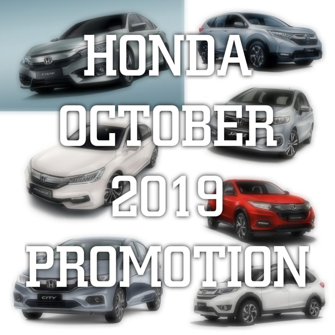 NEW HONDA OCTOBER 2019 PROMOTION REBATE UP TO RM10000